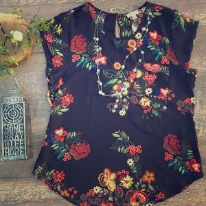 LILY WHITE BRIGHT FLORAL BLOUSE